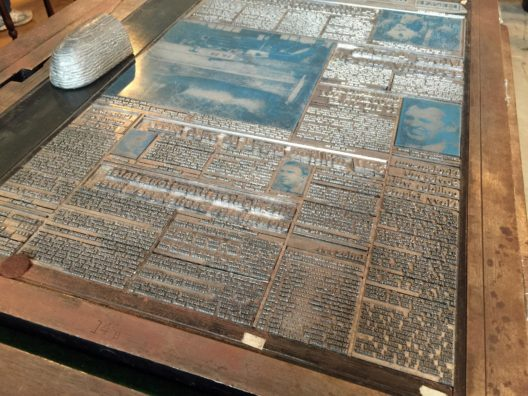 Image of a litho printing plate ready for ink