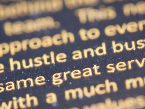 Image of printed text viewed from close-up